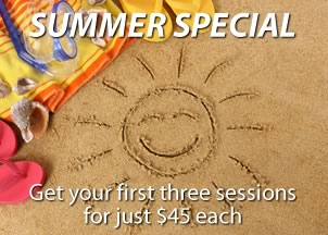 Summer special – Get your first 3 sessions for just $45 each